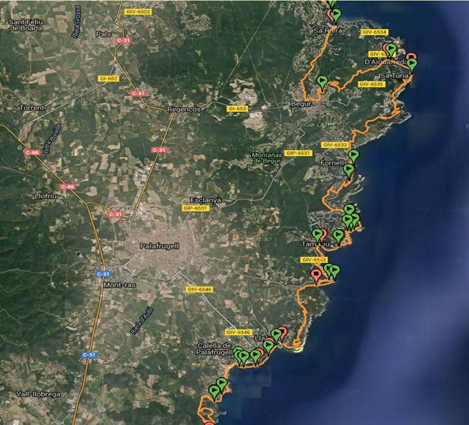 Costa brave map 1