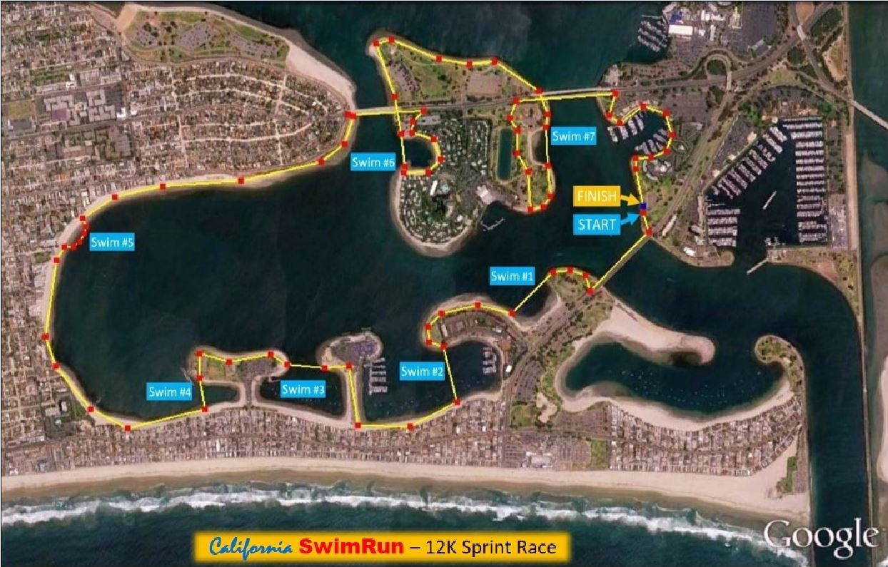California swimrun March 2016 map