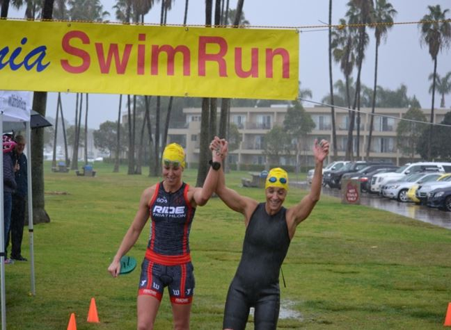 California swimrun March 2016 Team Chaffing the dream