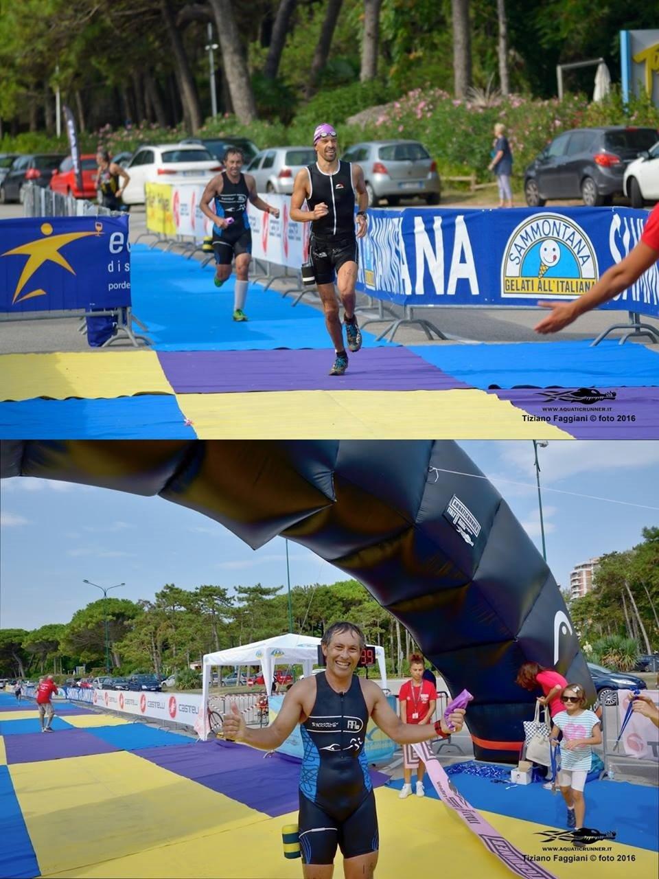 Sprint finish avec Bernhard Fink © Aquaticrunner