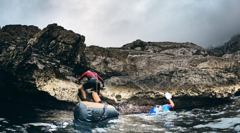 sortie de l'eau swimrun
